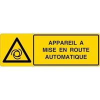 Panneau horizontal appareil à mise en route automatique