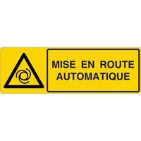 Panneau horizontal mise en route automatique