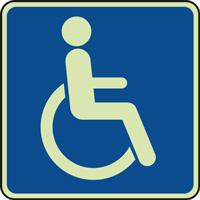 Panneau photoluminescent handicap moteur
