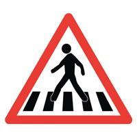 Sigle adhésif A13b danger passage piétons