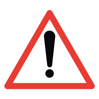 Sigle adhésif A14 attention danger