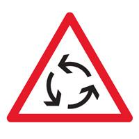 Sigle adhésif AB25 danger giratoire
