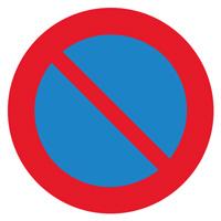 Sigle adhésif B6a1 interdiction de stationner