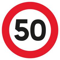Sigle adhésif B14 limitation de vitesse