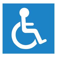 Sigle adhésif handicapé PMR