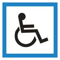 Sigle adhésif CE14 personnes handicapées