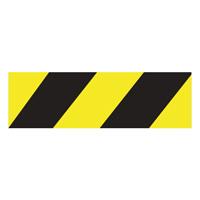 Ligne zébra adhésive jaune et noir