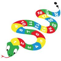 Serpent adhésif pour cour d'école
