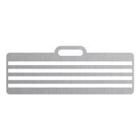Gabarit de positionnement pour bandelette adhésive