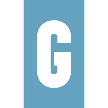Pochoir à enduit - Lettre G - Virages.com