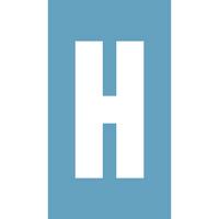 Pochoir à enduit - Lettre H