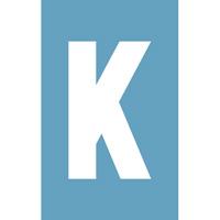 Pochoir à enduit - Lettre K