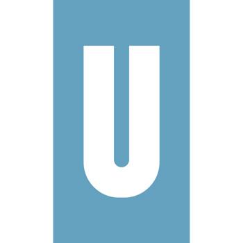 Pochoir à enduit - Lettre U - Virages.com