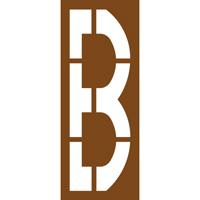 Pochoir lettre routière B