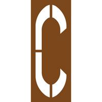 Pochoir lettre routière C