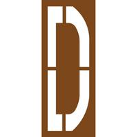 Pochoir lettre routière D