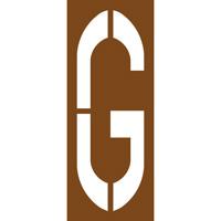 Pochoir lettre routière G
