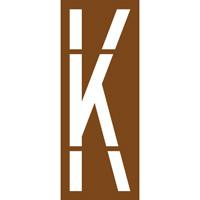 Pochoir lettre routière K
