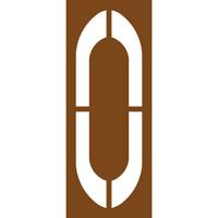 Pochoir lettre routière O