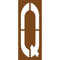 Pochoir lettre routière Q