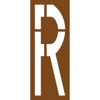 Pochoir lettre routière R