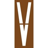 Pochoir lettre routière V