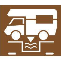 Pochoir vidange camping car