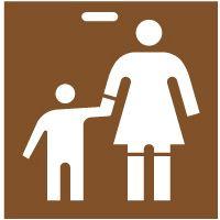 Pochoir famille femme et enfant