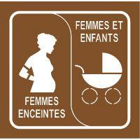Pochoir femme enceinte et landau