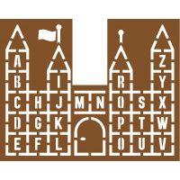 Pochoir château alphabet géant