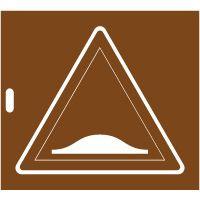 Pochoir panneau danger A2b