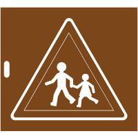 Pochoir panneau danger A13a