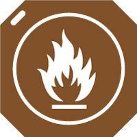 Pochoir flamme interdite