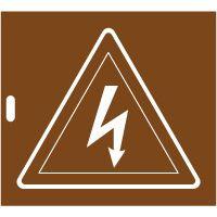 Pochoir danger électrique