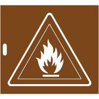 Pochoir danger matières inflammables