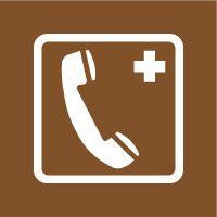 Pochoir téléphone de secours