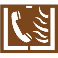 Pochoir téléphone incendie