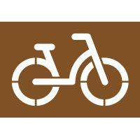 Pochoir bicyclette