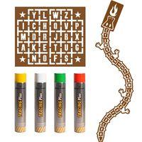 Pack pochoirs jeux alphabet pour écoles