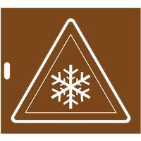 Pochoir panneau risque de froid