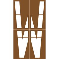 Pochoir Stationnement Itac - Lettre W