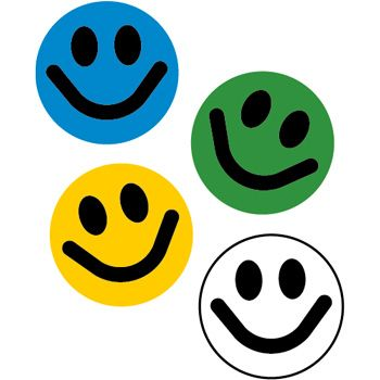Smileys couleur thermocollants