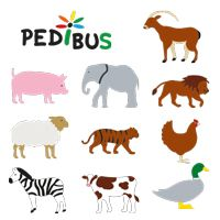 Kit pédibus thermocollant animaux