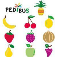 Kit pédibus thermocollant fruits