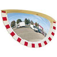 Miroir industrie demi-rond panoramique