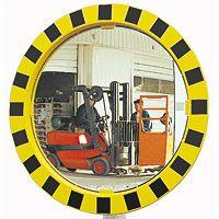 Miroir industrie et logistique jaune et noir