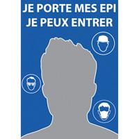 Miroir de sécurité de signalisation bleu