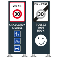 Totem zone 30 circulation apaisée
