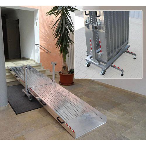 rampe d 39 acc s pliable pmr. Black Bedroom Furniture Sets. Home Design Ideas