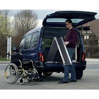 Rampe d'accès véhicule repliable aluminium